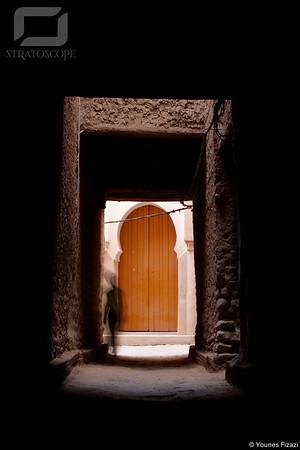 Ambiances devant la porte de la Grande Mosquée, Figuig