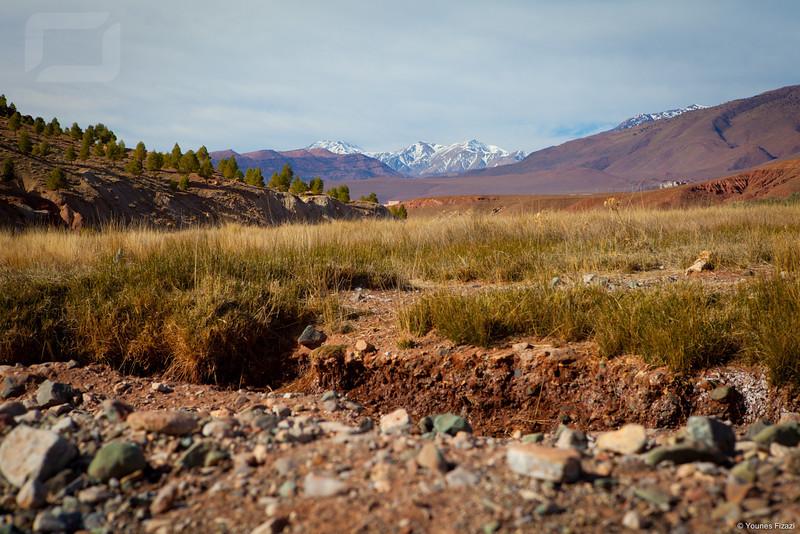 Un versant sud du Haut Atlas Marocain
