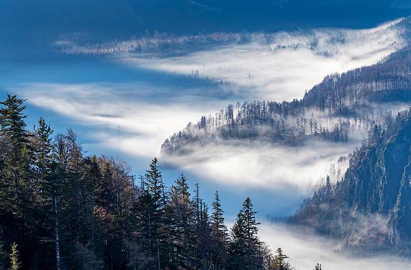 Almtal im Nebel