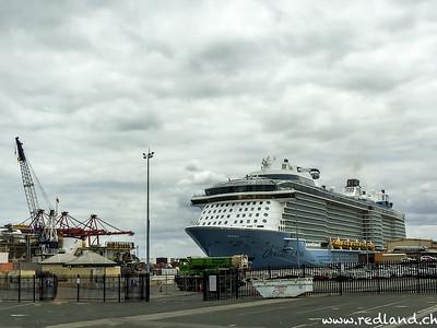 grösstes Kreuzfahrtschiff in Fremantle