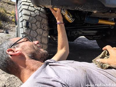 Putre Auto Waschen und Fischöl für Salzsee vorbereiten
