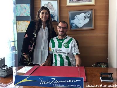 Roger mit Ivan Zamoranos Schwester Erica