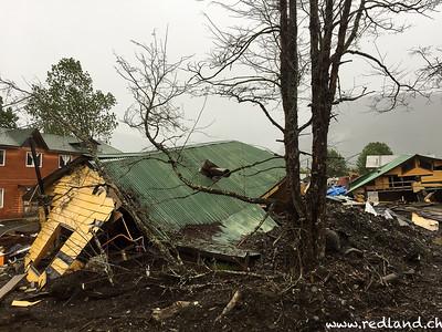 Villa Santa Lucia zerstört durch Erdrutsch