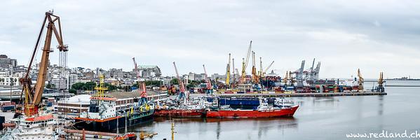 Hafengelände in Montevideo
