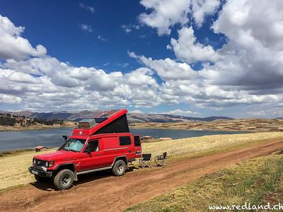 Mittagspause an der Laguna Huanypo