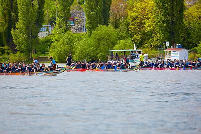 Prague SUP race 2017 a 20. Pražský festival dračích lodí