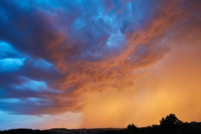 Úžasná obloha před bouřkou