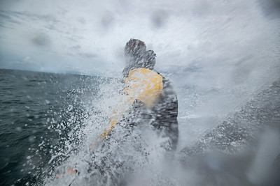 OFF La Trinité sur Mer - October 1: French skippers Fabrice Amedeo sailing on the Imoca Newrest - Art & Fenêtres, training prior to the vendée globe, on October 1, 2020, off La Trinité sur Mer, South Brittany, France - Photo Pierre Bouras / Newrest-Art & Fenêtres