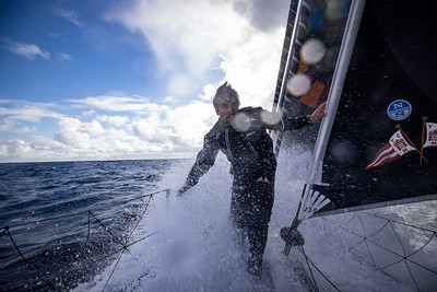 OFF Belle l'île - October 11: German skippers Boris Herrmann sailing on the Imoca Malizia II, training prior for the vendee globe, on October 11, 2020, off Belle l'île, South Brittany, France - Photo Pierre Bouras / Team Malizia