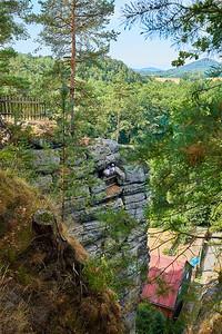Čertovy hlavy, Skalní hrad Sloup, Šaunštejn, Mariina vyhlídka, Panská skála | Devil Heads, Rock Castle Sloup, Šaunštejn Castle, Mariina rock, Panská rock