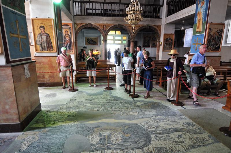 Mosaikstadt Madaba: Palästina-Landkarte in der St. Georgskirche
