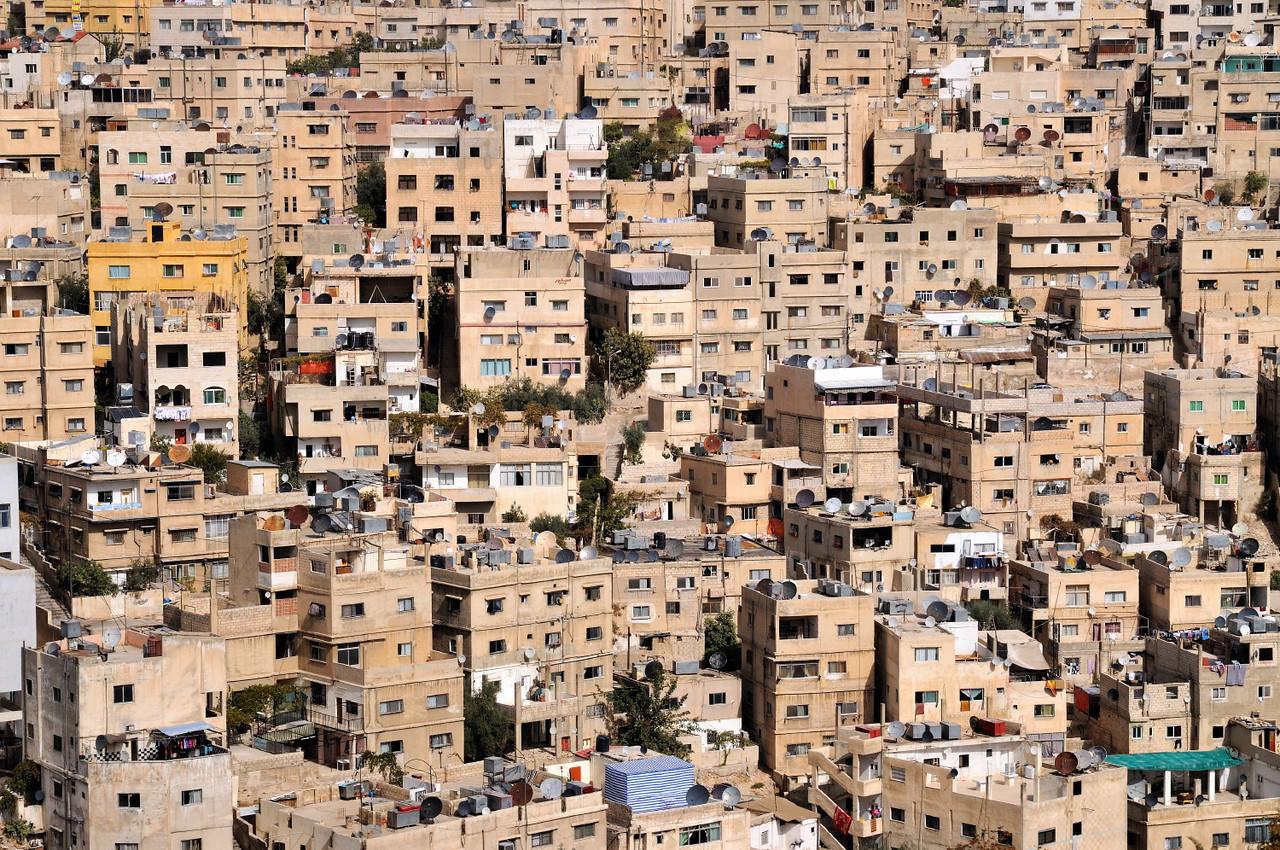 Wohnhäuser in Amman; Blick von der Zitadelle