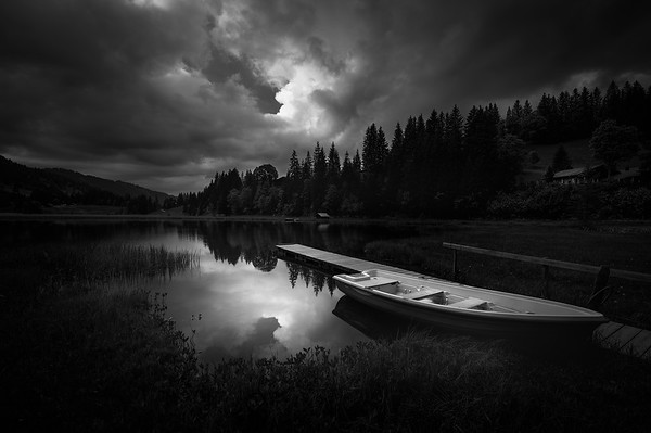 *** Cloudy evening at the lake ***