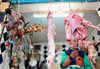 Fleischer in den Souks von Marrakesch