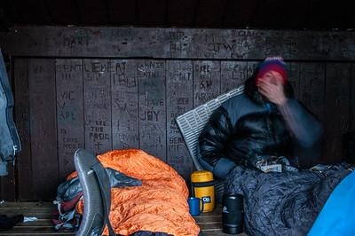 Repos au LeanToo de Hermit lake.  - Pentax Digital, 40mm, 400 iso, 1/60 s , f/11