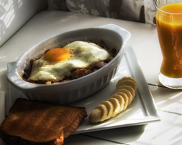 Breakfast casserole.