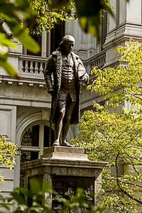 Statue de Benjamin Franklin.