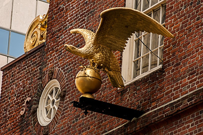 Sculpture d'aigle à Boston.