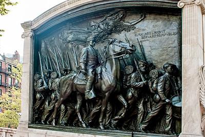 Sculpture «Shaw/54th Regiment Memorial»
