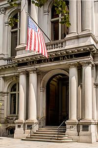 Entrée du Old City Hall de Boston.