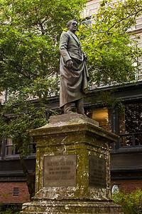 Sculpture de Josiah Quincy à Boston.