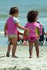Enfants sur la plage.