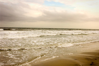 Mer agitée en fin de journée.