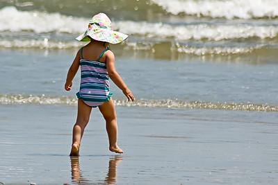 Bébé à la plage.