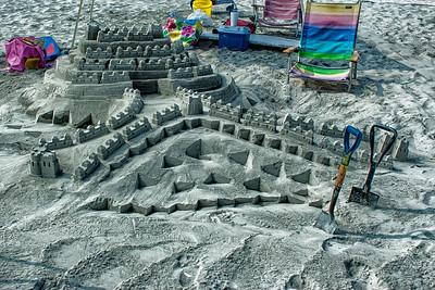 Château de sable à Wildwood.