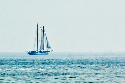 Voilier su la mer.