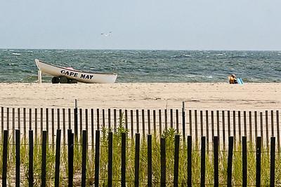 Canot sur la plage de Cape May.