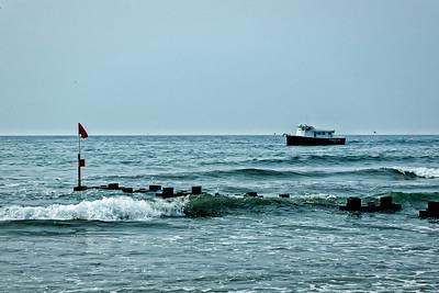 Bateau  sur la mer.