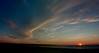 Nuages au coucher du soleil.