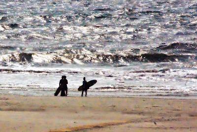 Surfer le matin