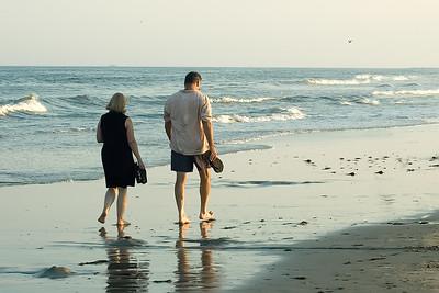 Couple sur la plage.