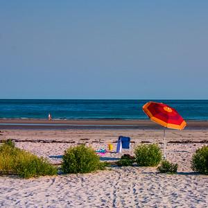 Parasol sur la Goose Beach.