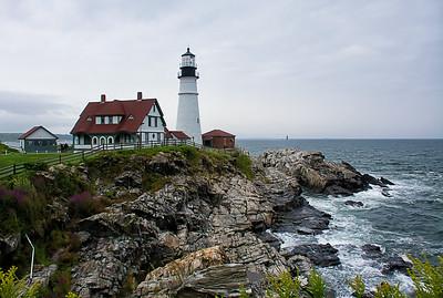 Maison et phare du PortlandHead Light.