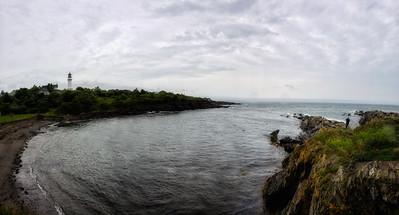Vue sur Casco Bay.