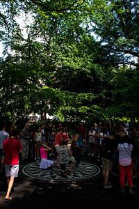 Mosaique«Imagine» au Strawberry field de Central Park.