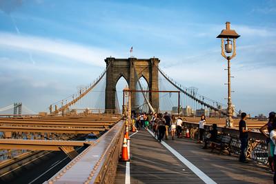 Vue du pont de Brooklynn.