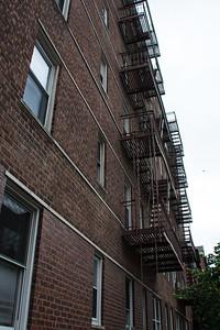 Escalier d'acier.
