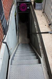 Escalier étroit de New-York.