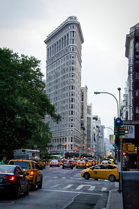 Vue du Flatiron building de New-York.