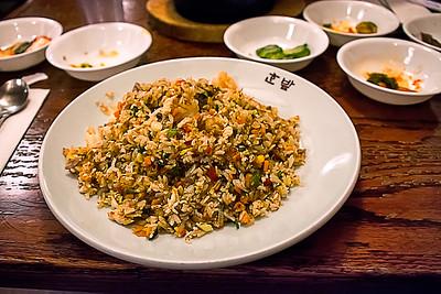 Riz frit coréen.