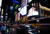 Times Square le soir.