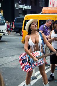 Cowgirl de Times Square.