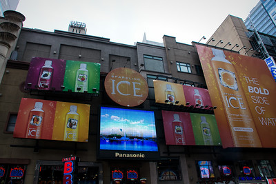 Affiches lumineuses de Times Square.