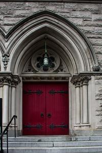 Portes de la Holy Trinity Lutheran Church.