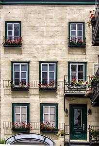Balcons fleuris.