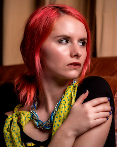 Chloé Fleury, modèle.